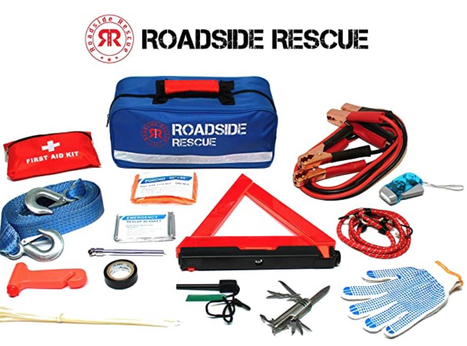 110 Piece Roadside Emergency Assistance Kit