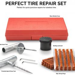 slow-leak-in-tire Professional Tire Plug Kit whole kit