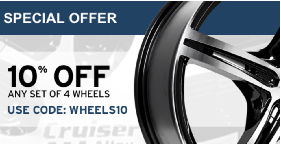 Save 10% on Wheels