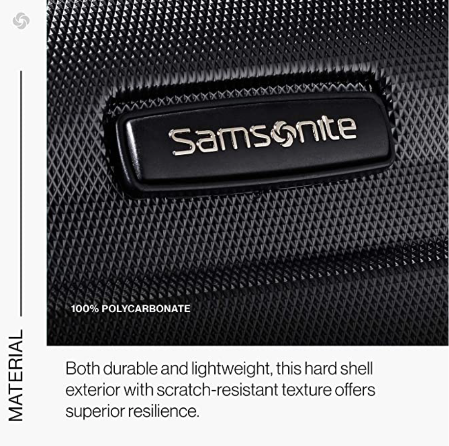 Samsonite hard case suitcase set material