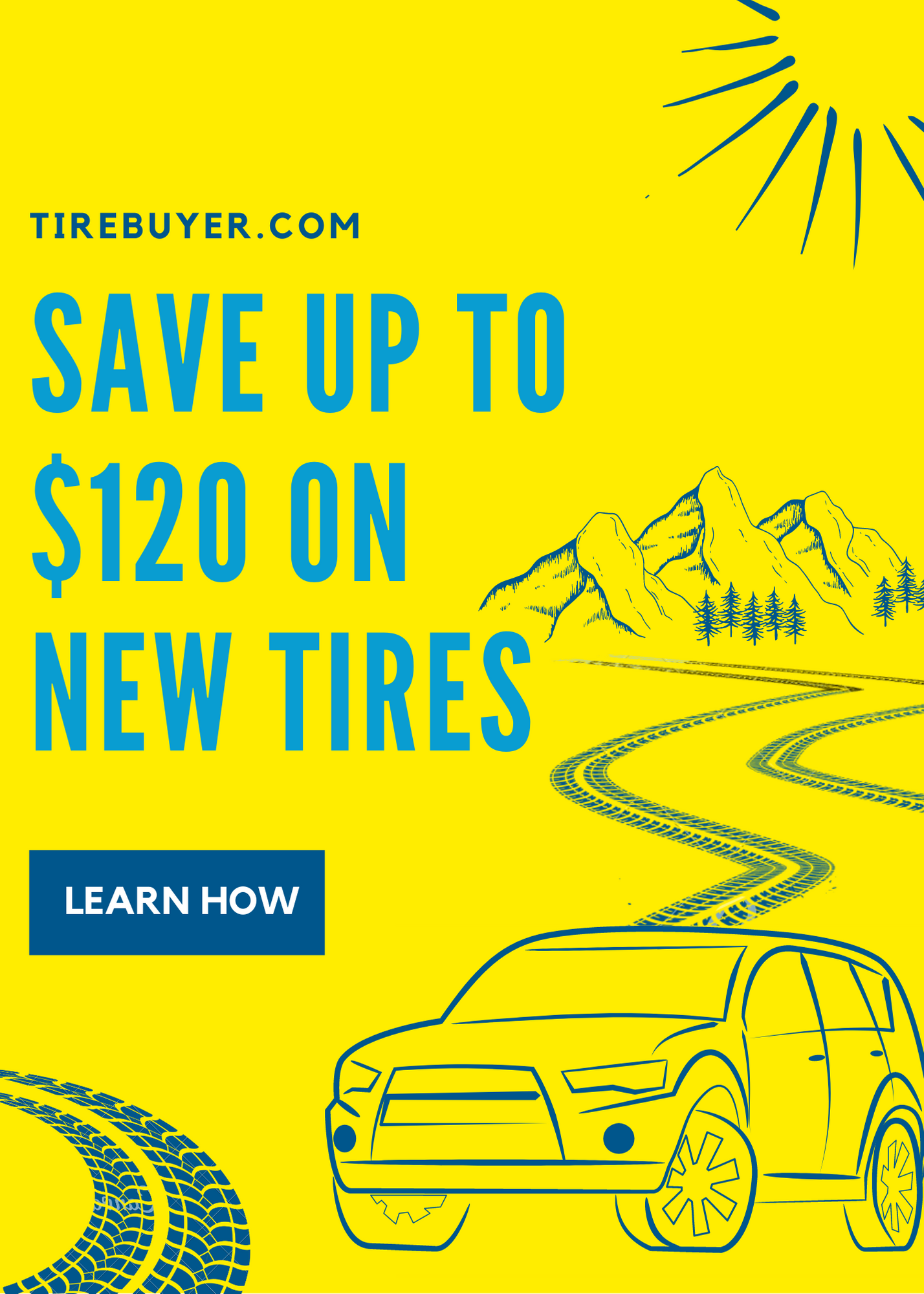 Pop up tire buyer
