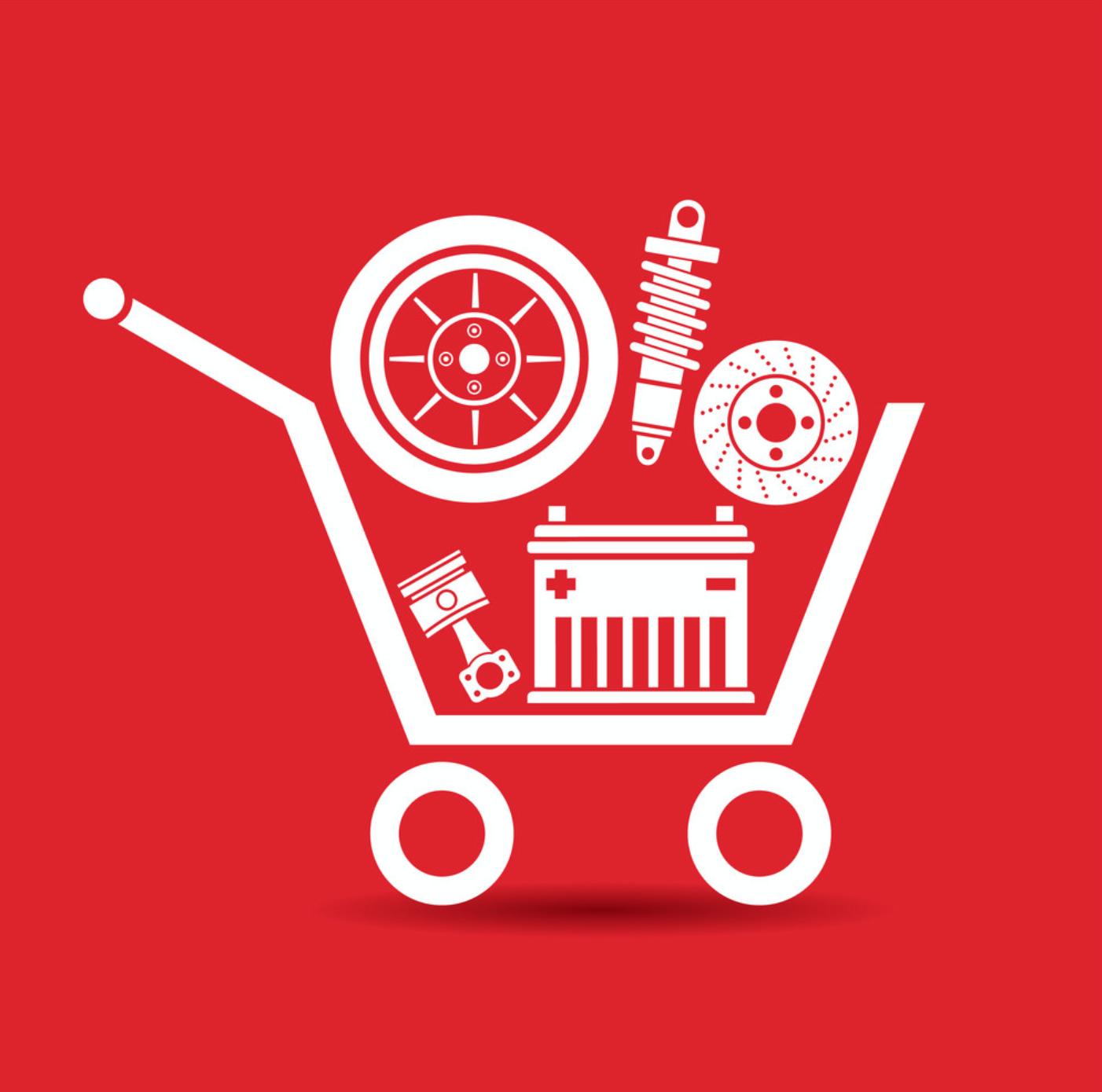 Car Parts In Shopping Cart